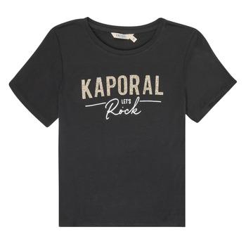 Oblečenie Dievčatá Tričká s krátkym rukávom Kaporal MAPIK Čierna