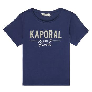 Oblečenie Dievčatá Tričká s krátkym rukávom Kaporal MAPIK Námornícka modrá