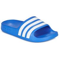 Topánky Chlapci športové šľapky adidas Performance ADILETTE AQUA K Modrá / Biela