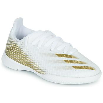 Topánky Deti Futbalové kopačky adidas Performance X GHOSTED.3 IN J Biela