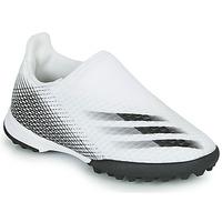 Topánky Deti Futbalové kopačky adidas Performance X GHOSTED.3 LL TF J Biela