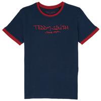 Oblečenie Chlapci Tričká s krátkym rukávom Teddy Smith TICLASS 3 Námornícka modrá
