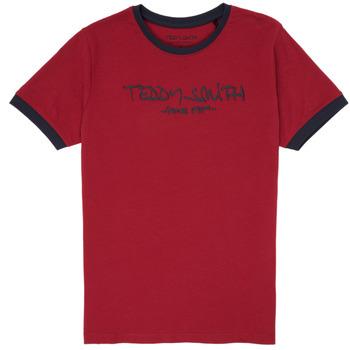 Oblečenie Chlapci Tričká s krátkym rukávom Teddy Smith TICLASS 3 Červená