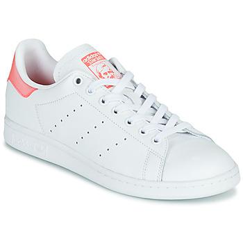 Topánky Ženy Nízke tenisky adidas Originals STAN SMITH W Biela / Ružová
