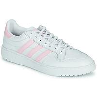 Topánky Ženy Nízke tenisky adidas Originals TEAM COURT W Biela / Ružová