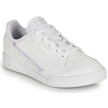 Topánky Dievčatá Nízke tenisky adidas Originals CONTINENTAL 80 C Biela / Perleťový