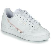 Topánky Dievčatá Nízke tenisky adidas Originals CONTINENTAL 80 J Biela / Perleťový