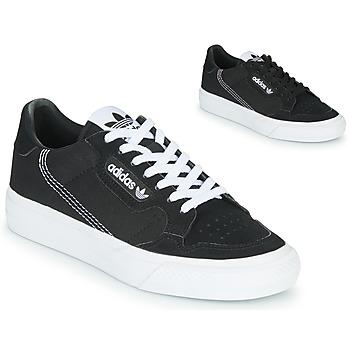 Topánky Deti Nízke tenisky adidas Originals CONTINENTAL VULC J Čierna