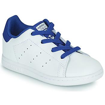 Topánky Chlapci Nízke tenisky adidas Originals STAN SMITH EL I Biela / Modrá