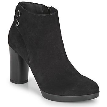 Topánky Ženy Čižmičky Geox ANYLLA HIGH Čierna