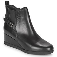 Topánky Ženy Čižmičky Geox ANYLLA WEDGE Čierna
