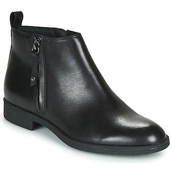 Topánky Ženy Čižmičky Geox JAYLON Čierna