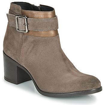 Topánky Ženy Čižmičky Geox NEW ASHEEL Béžová