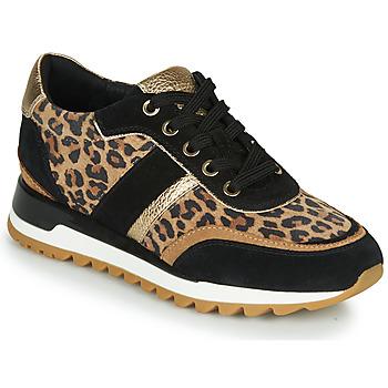 Topánky Ženy Nízke tenisky Geox TABELYA Leopard / Čierna