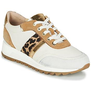 Topánky Ženy Nízke tenisky Geox TABELYA Biela / Leopard