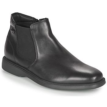 Topánky Muži Polokozačky Geox BRAYDEN 2FIT ABX Čierna