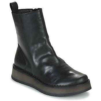 Topánky Ženy Polokozačky Fly London RENO Čierna
