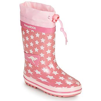 Topánky Dievčatá Gumaky Kangaroos K-RAIN Ružová