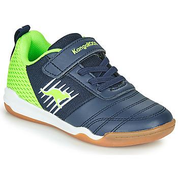 Topánky Chlapci Nízke tenisky Kangaroos SUPER COURT EV Modrá / Zelená