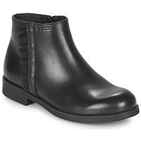 Topánky Dievčatá Polokozačky Geox AGGATA Čierna