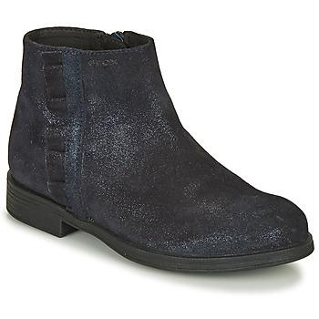 Topánky Dievčatá Polokozačky Geox AGGATA Námornícka modrá