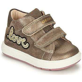Topánky Dievčatá Polokozačky Geox BIGLIA Hnedá