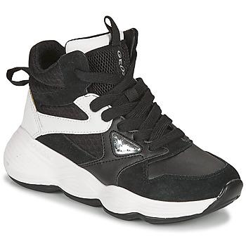 Topánky Dievčatá Nízke tenisky Geox BUBBLEX Čierna / Biela
