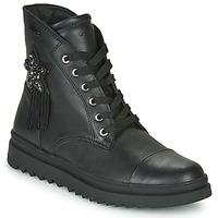 Topánky Dievčatá Polokozačky Geox GILLYJAW Čierna