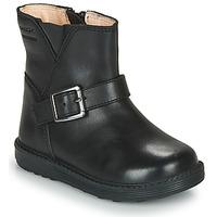 Topánky Dievčatá Čižmy do mesta Geox HYNDE WPF Čierna