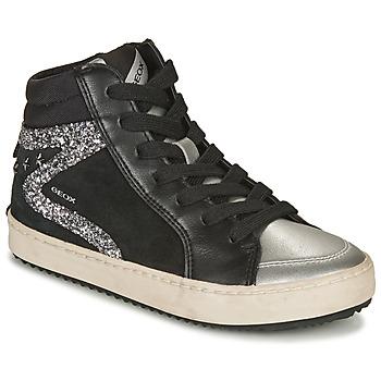 Topánky Dievčatá Členkové tenisky Geox KALISPERA Čierna / Strieborná