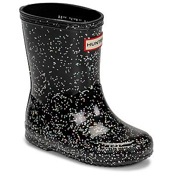 Topánky Dievčatá Gumaky Hunter KIDS FIRST CLASSIC GLITTER Čierna