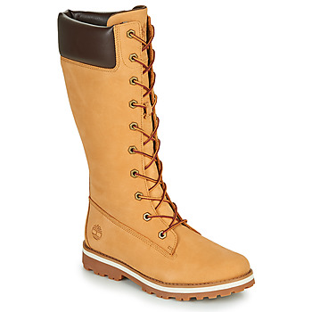 Topánky Dievčatá Čižmy do mesta Timberland COURMA KID GIRLS TALL ZIP Žltá obilná
