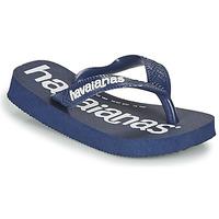 Topánky Chlapci Žabky Havaianas Top Logomania Námornícka modrá