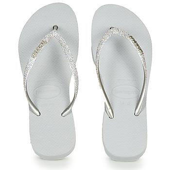 Topánky Ženy Žabky Havaianas Slim Flatform Glitter Strieborná