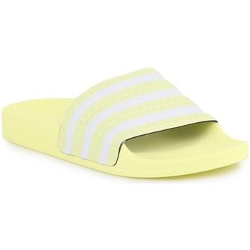 Topánky Ženy športové šľapky adidas Originals Adilette W Biela,Žltá