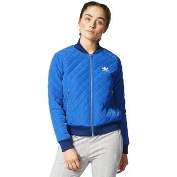 Oblečenie Ženy Bundy  adidas Originals Originals Quilted Tracktop Bomber Modrá