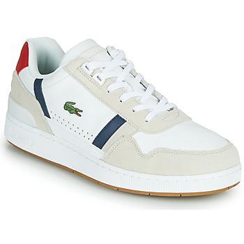 Topánky Muži Nízke tenisky Lacoste T-CLIP 0120 2 SMA Biela / Námornícka modrá / Červená