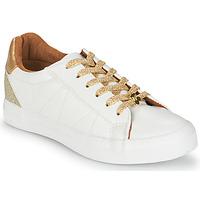 Topánky Ženy Nízke tenisky Le Temps des Cerises VIC Biela / Zlatá