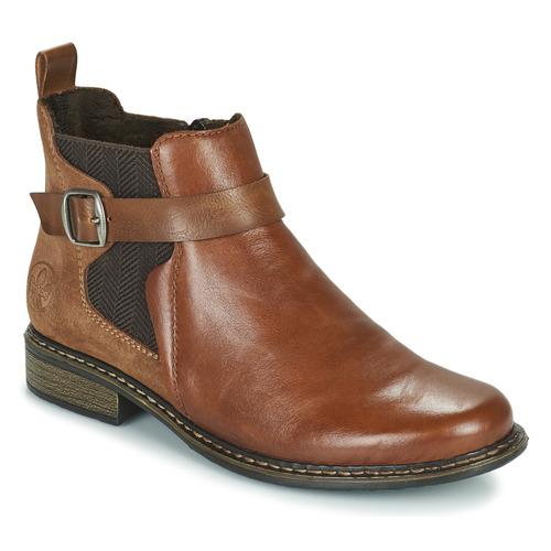 Topánky Ženy Čižmičky Rieker Z49A9-24 Ťavia hnedá