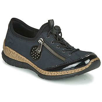 Topánky Ženy Derbie Rieker N3268-01 Modrá / Čierna
