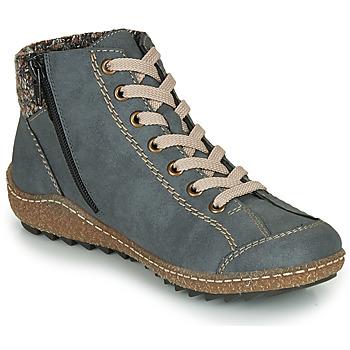 Topánky Ženy Polokozačky Rieker L7543-14 Modrá