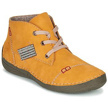 Topánky Ženy Polokozačky Rieker PHILOMENA Žltá