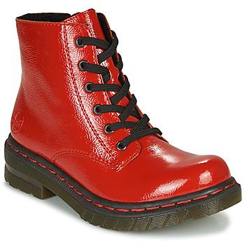 Topánky Ženy Polokozačky Rieker 76240-33 Červená