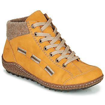 Topánky Ženy Polokozačky Rieker L7543-69 Žltá