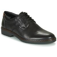 Topánky Muži Derbie Rieker 16541-02 Čierna