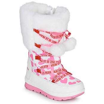 Topánky Dievčatá Snehule  Agatha Ruiz de la Prada APRESKI Biela