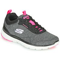 Topánky Ženy Fitness Skechers FLEX APPEAL 3.0 Šedá / Čierna / Ružová