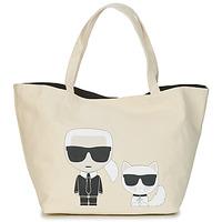Tašky Ženy Veľké nákupné tašky  Karl Lagerfeld K/IKONIK KARL & CHOUPETTE TOTE Čierna