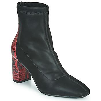 Topánky Ženy Čižmičky Gioseppo EGELN Čierna / Červená