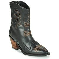 Topánky Ženy Čižmičky Gioseppo SERAING Čierna / Hnedá